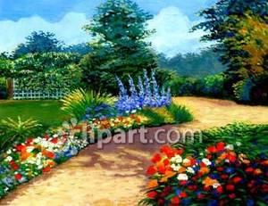 pathway clipart garden pathway