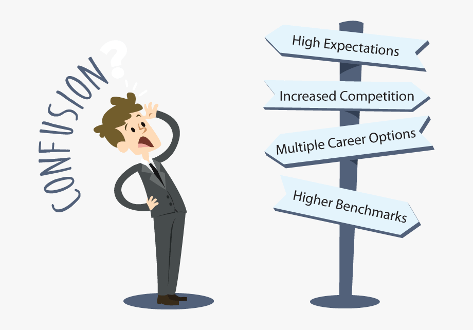 Career path you confused. Pathway clipart multiple