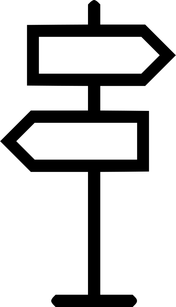 Pathway clipart direction. Sign trip path marker