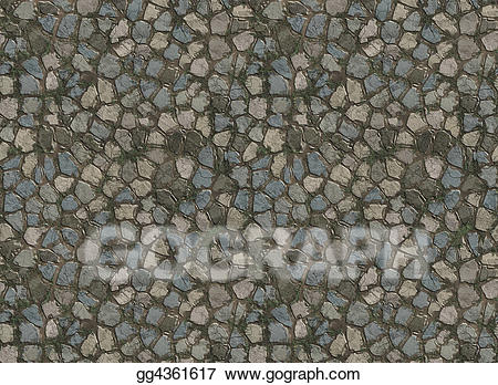 Drawing stone pavers gg. Path clipart old road