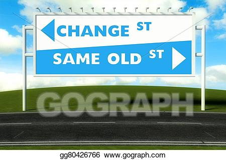 Path clipart old road. Stock illustration conceptual direction