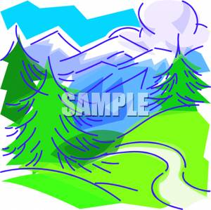 Clip art image a. Path clipart valley