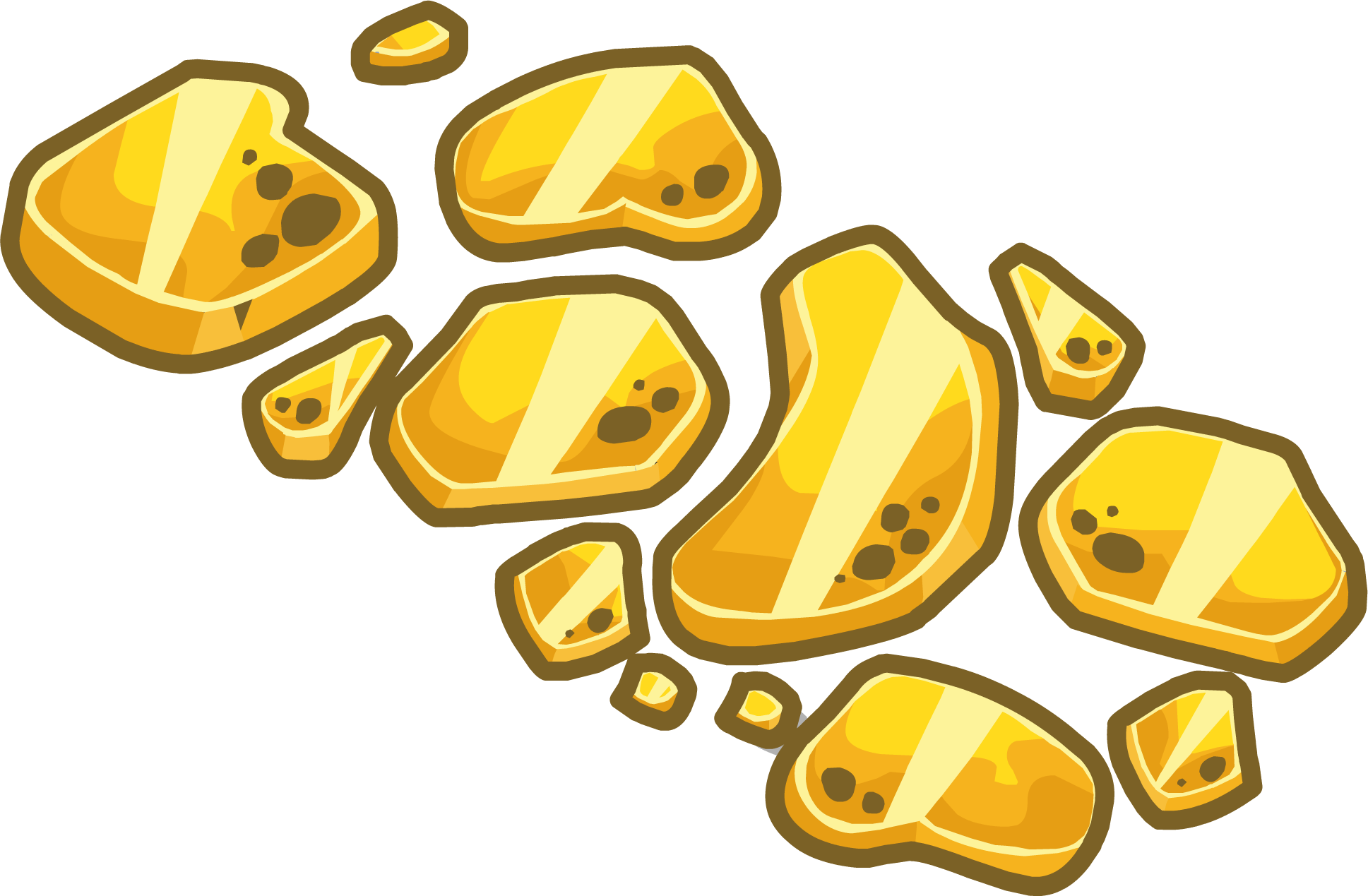Gold walkway club penguin. Pathway clipart stone path