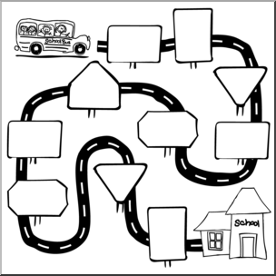 Pathway clipart. Clip art sequence b
