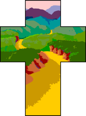 Image cross christart com. Pathway clipart