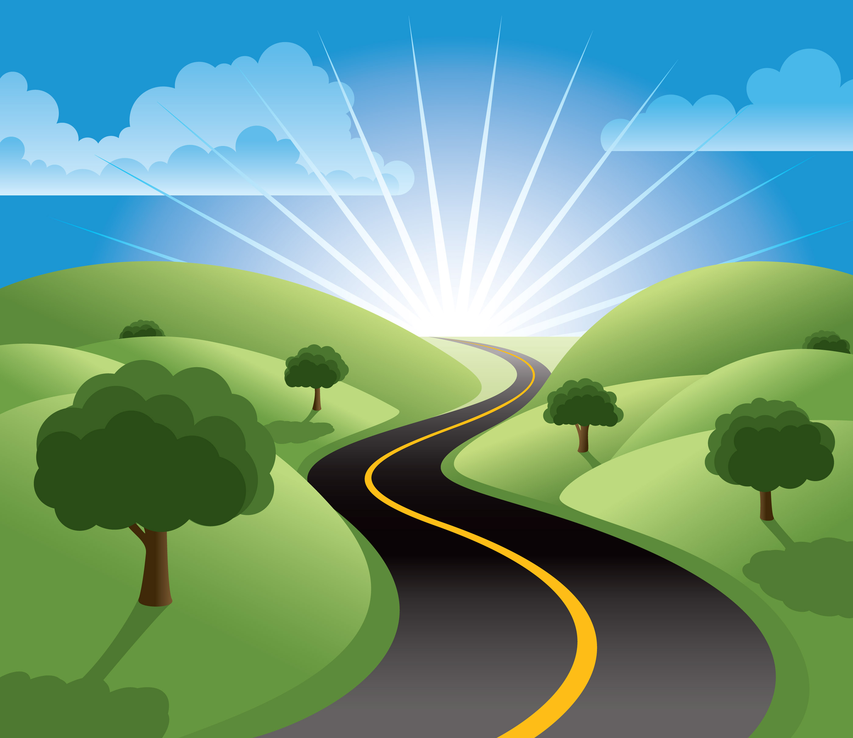 Free pathway cliparts download. Highway clipart success road