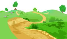 Pathway clipart. Transparent flowers and grass