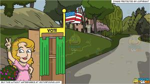 A female candidate claiming. Pathway clipart country park