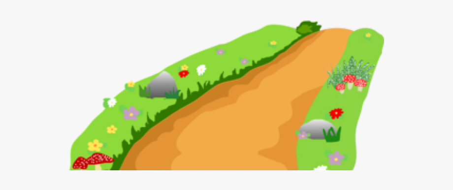 Pathway clipart direction. Hills winding river clip