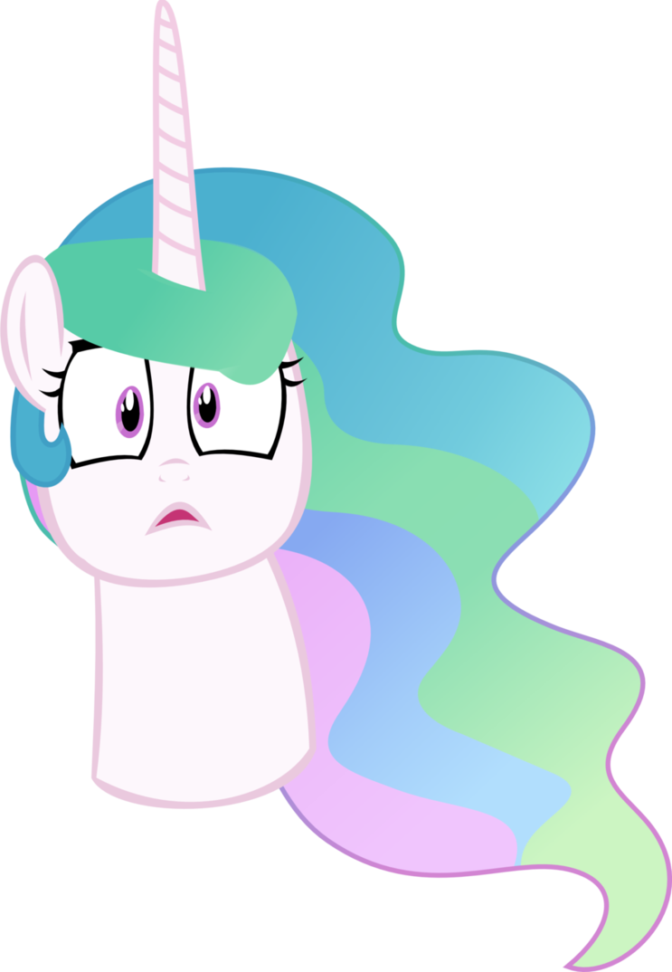 Celestia face by megarainbowdash. Pathway clipart rainbow