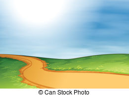 Trail clipart horizon. Pathway pencil and in