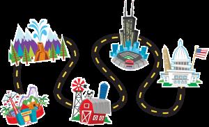 Road map panda free. Pathway clipart roadmap