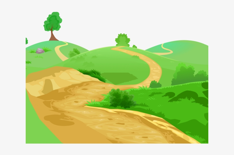 Pathway clipart rough road. Path small png image
