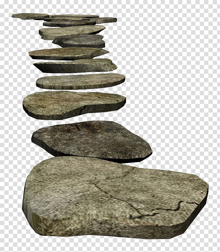 Rock boulder illustration transparent. Pathway clipart stone path