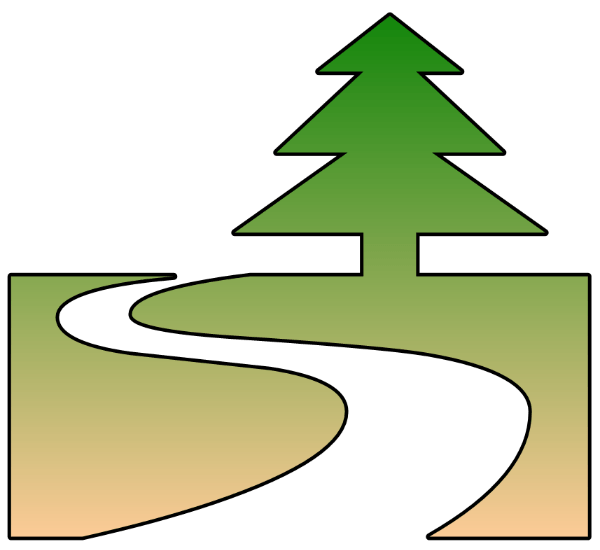 Path cliparts zone . Pathway clipart winding trail