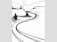 Path black and white. Pathway clipart winding trail