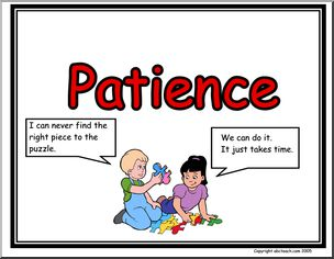 Poster life skills abcteach. Patience clipart