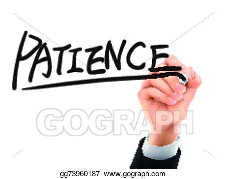 Patience clipart be still. Vector art written by