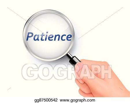 Patience clipart key. Vector illustration magnify glass
