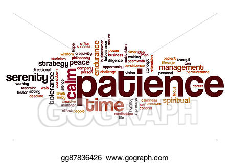 Stock illustration cloud . Patience clipart patience word