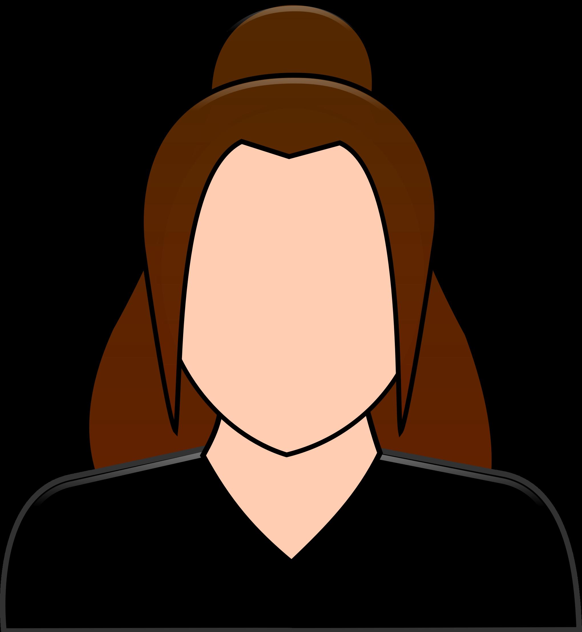 User icon personalized big. Patient clipart female patient