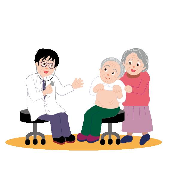 Patient clipart female patient. Physician cartoon illustration doctor