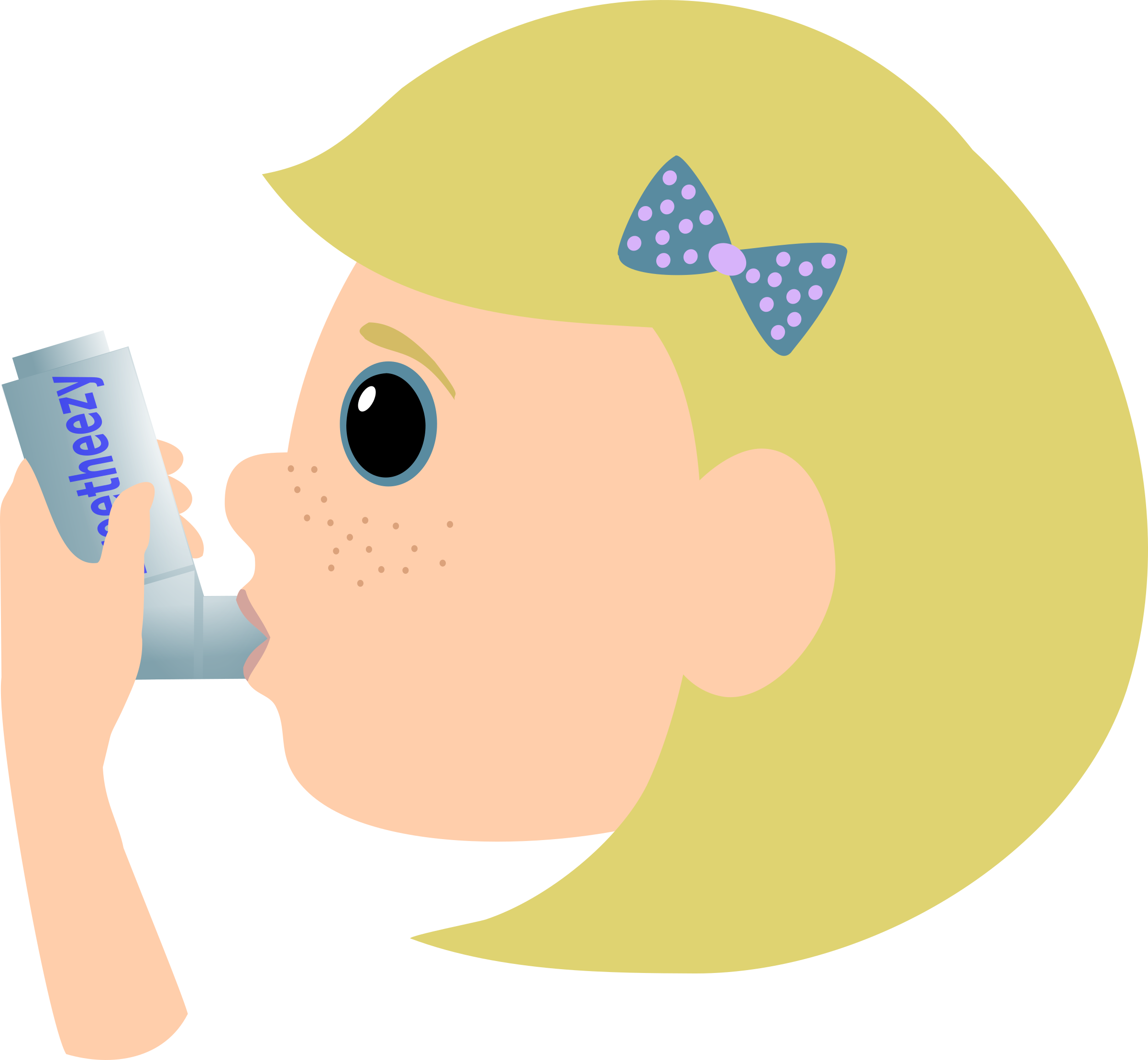 With asthma spray big. Patient clipart girl patient