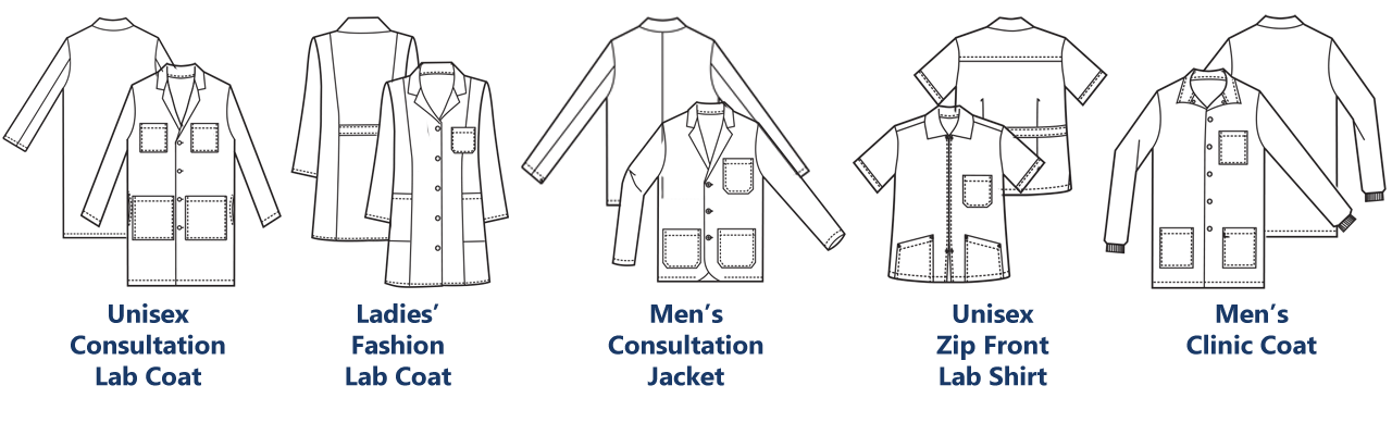 Lab coats fashion seal. Patient clipart laboratory coat