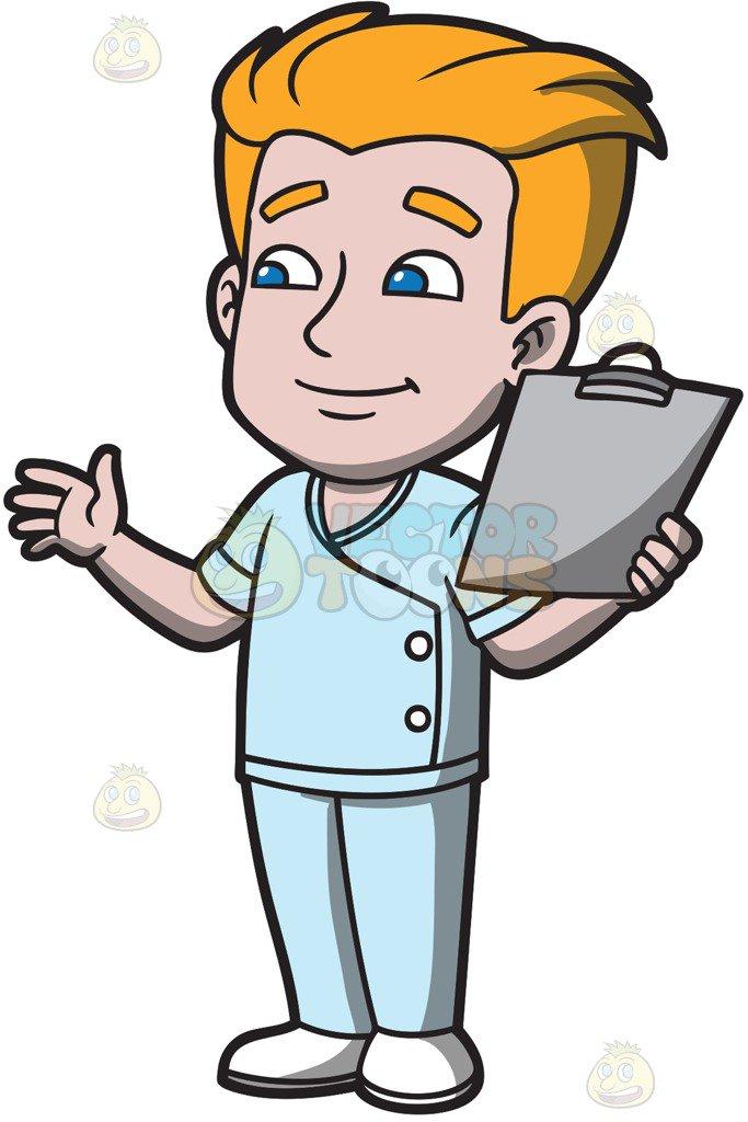 Cartoon nurses images free. Patient clipart male patient