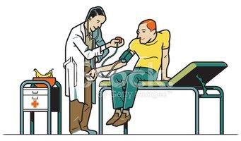 Doctor examining stock vectors. Patient clipart patient examination