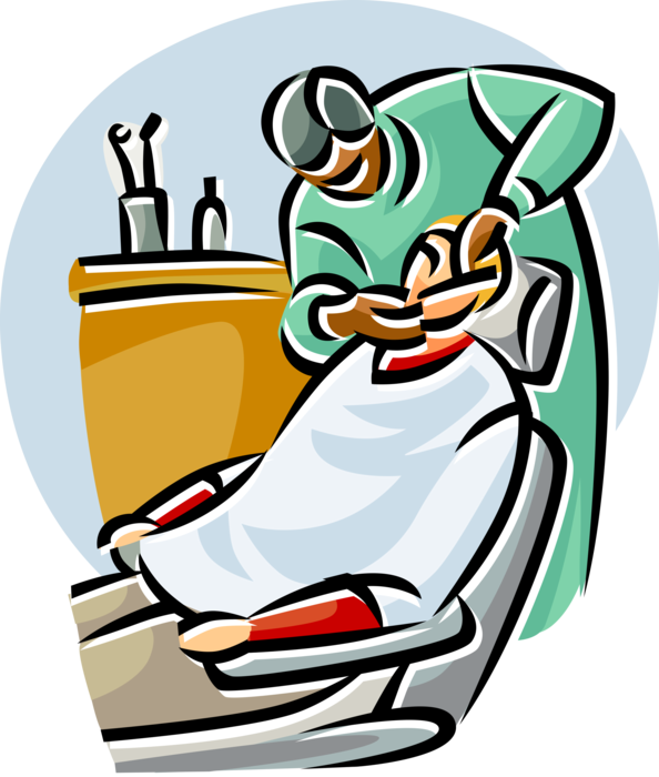 Patient clipart patient examination. Dental with vector image