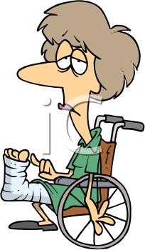 Patient clipart sick patient. Clip art image woman