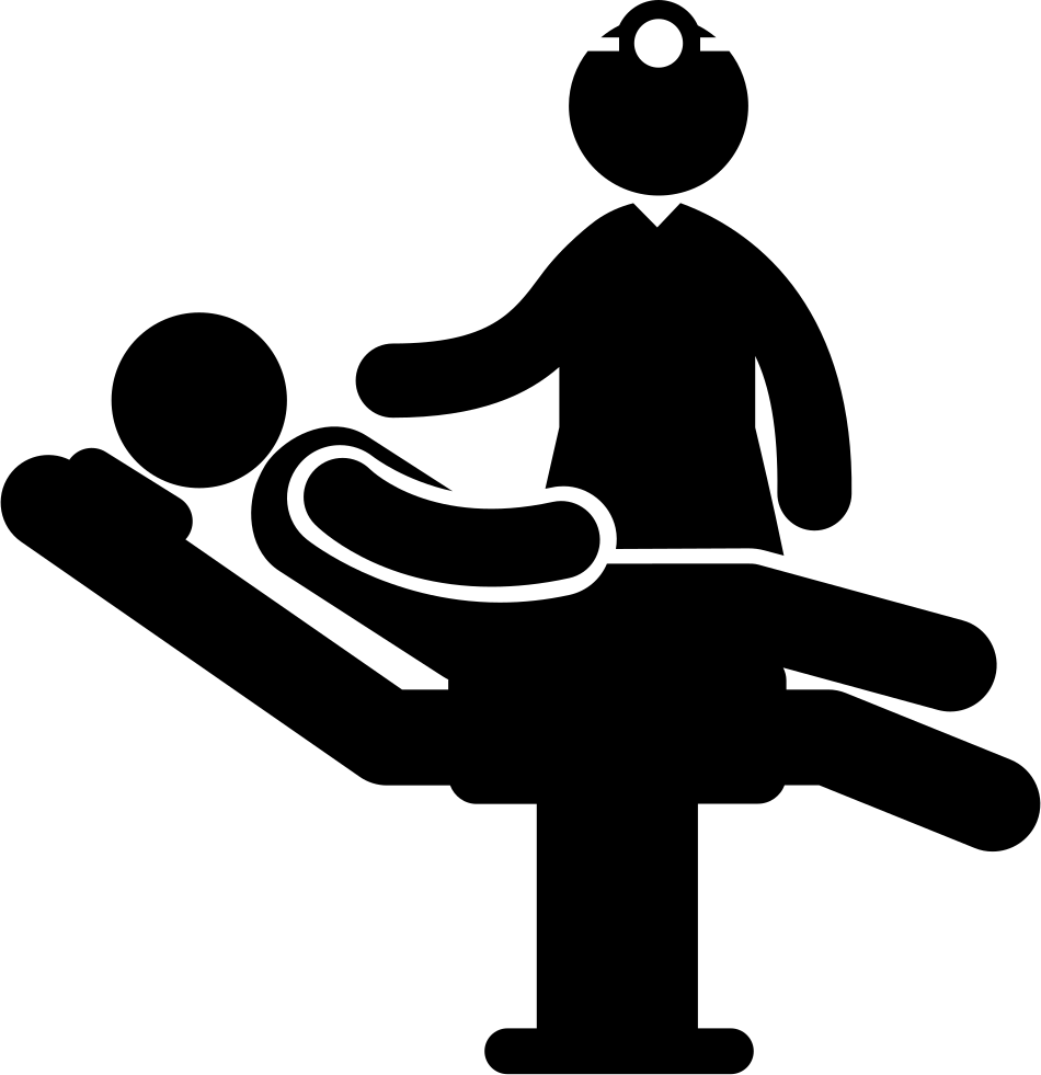 Medical doctor and a. Patient clipart sit in
