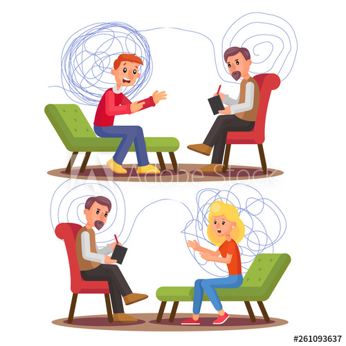 Psychology clipart psychiatric patient. Psychiatry professional consultation vector