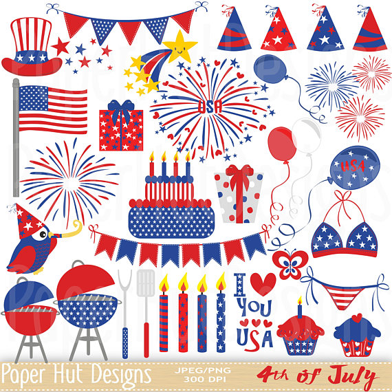 Patriotic clipart.  th of july