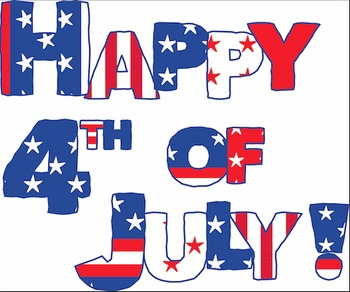 Happy th of july. Patriotic clipart