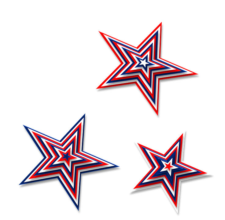 Red white and blue. Patriotic clipart birthday