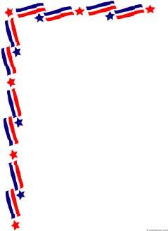 Patriotic clipart border. Free page borders paper