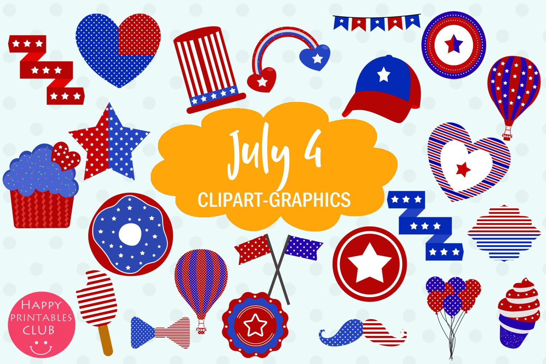 Patriotic clipart happy. July graphics