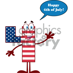 Number four in american. Patriotic clipart happy