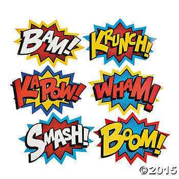 Superhero words party supplies. Superheroes clipart word