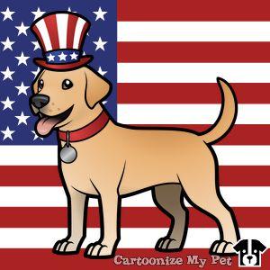 Free dog cliparts download. Pet clipart patriotic