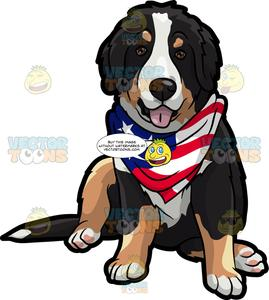 Pet clipart patriotic. An american dog