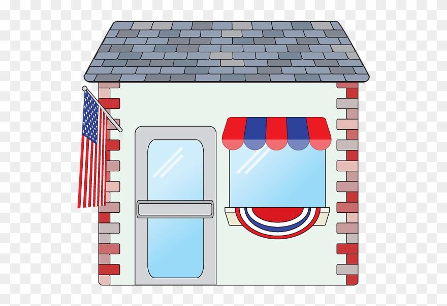 Shop clipart shop background. American patriotic small image