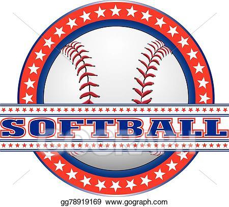 Eps illustration design white. Softball clipart red