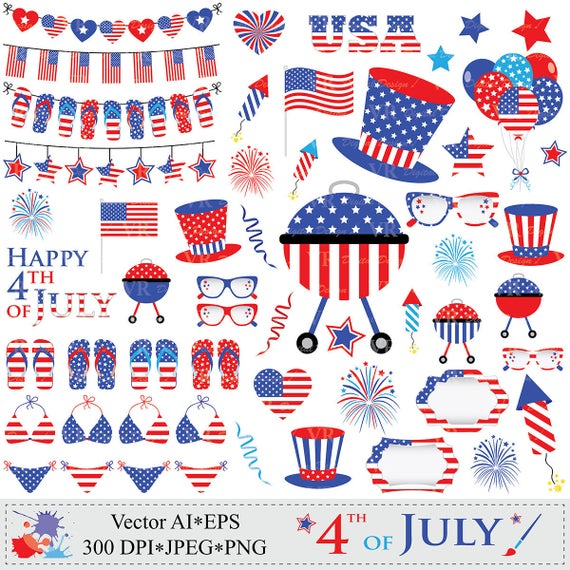 Usa clipart clip art.  th of july