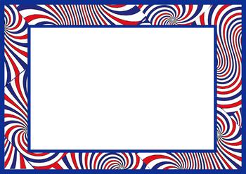 Patriotic clipart swirl. Alphabet bulletin board letters