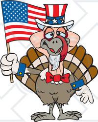 Patriotic clipart turkey.