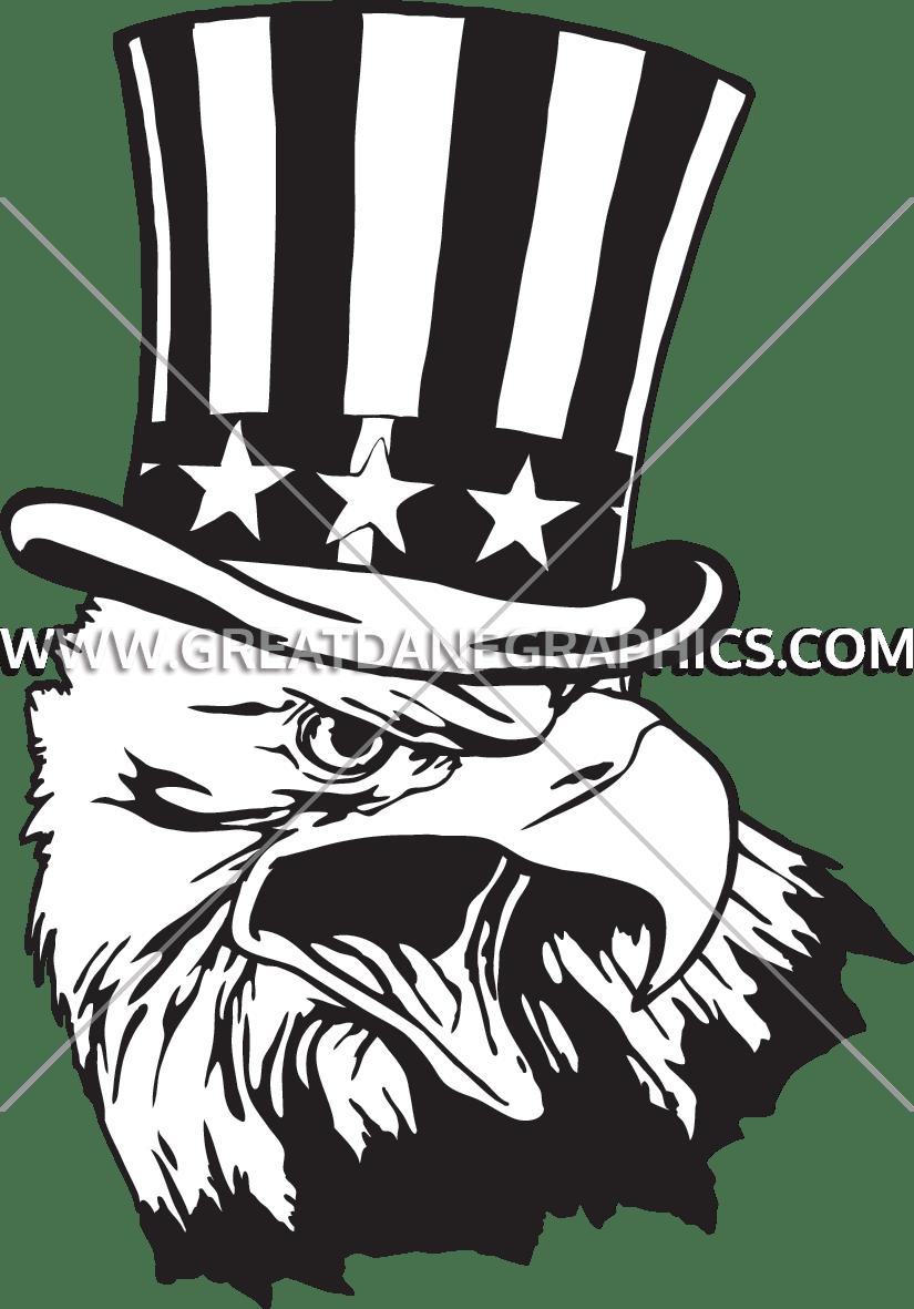 Patriotic clipart uncle sam's. Sam eagle production ready