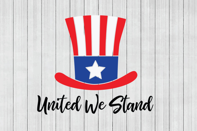 Patriotic clipart united we stand. Free svg cuttable file